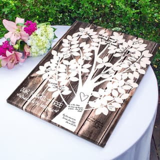 Our Family Tree Gallery Wrapped Canvas Guest Book https://ak1.ostkcdn.com/images/products/10003574/P17152503.jpg?impolicy=medium