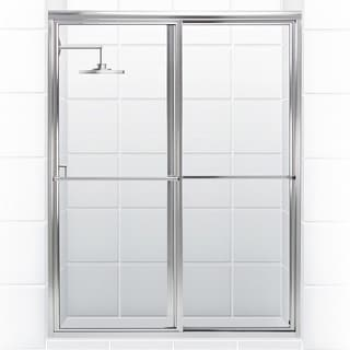Newport Series 56 in. x 70 in. Framed Sliding Shower Door With Towel Bar in Chrome with Clear Glass
