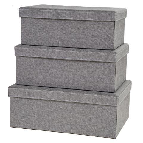 Creative Scents Grey Birch Storage Boxes (Set of 3)
