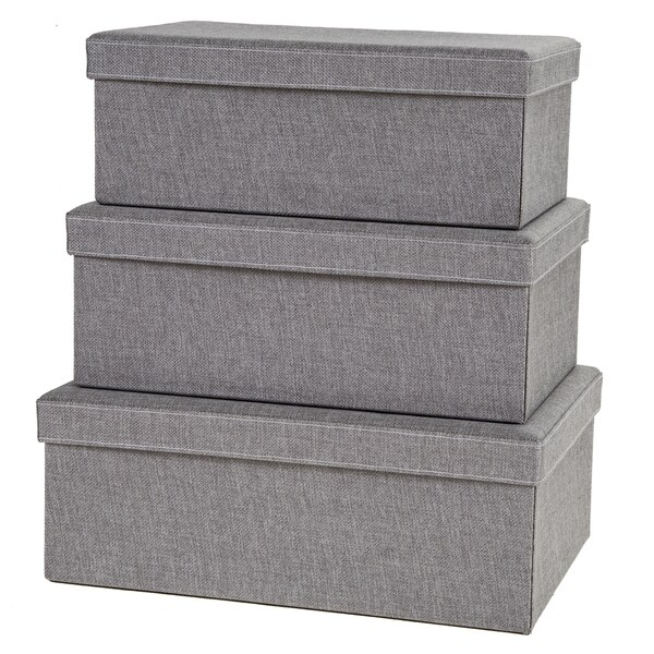 Creative Scents Grey Birch Storage Boxes (Set of 3)  sc 1 st  Overstock.com & Shop Creative Scents Grey Birch Storage Boxes (Set of 3) - Free ...