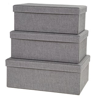 Creative Scents Grey Birch Storage Boxes (Set of 3)