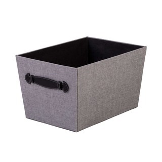 Creative Scents Gray Birch Handled Storage Bin