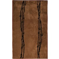 HiEnd Accents Barbwire Print  24 x 36 Acrylic Rug