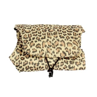 Household Essentials Leopard Four N Fold Jewelry Organizer