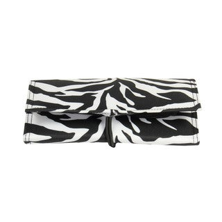 Household Essentials Zebra Tri-Fold Travel Jewelry Organizer