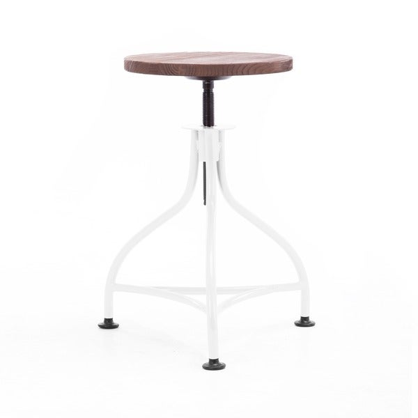 Shop Pub Industrial White Wood Seat Barstool 17 7 Quot 21