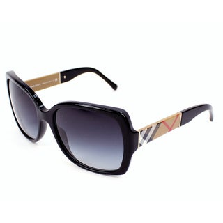 Burberry Women's BE4160 34338G Black Square Sunglasses