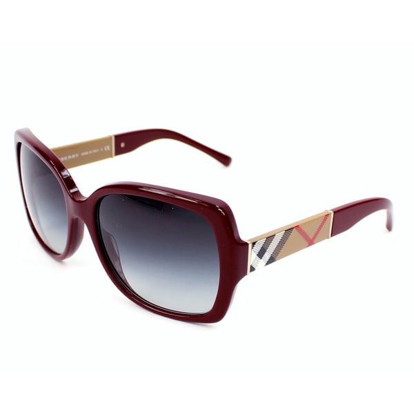 546ff8a572 Burberry BE4160 Women  x27 s Square Plastic Fashion Sunglasses - Large