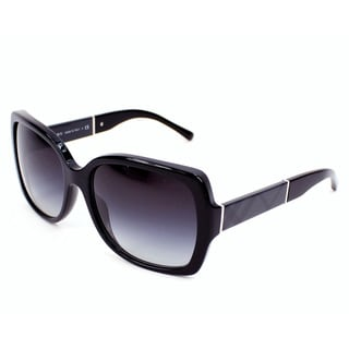Burberry Women's BE4160 30018G Black Plastic Square Sunglasses