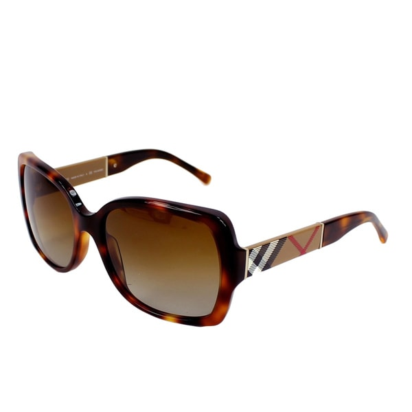 e58e13243d2b Burberry Women  x27 s BE4160 3316T5 Square Gradient Polarized Sunglasses