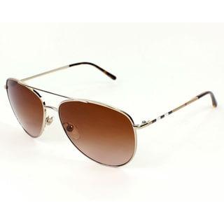 c360ba6e018 Shop Burberry Women s BE3072 114513 Gold Metal Aviator Fashion Sunglasses -  Ships To Canada - Overstock - 10006471