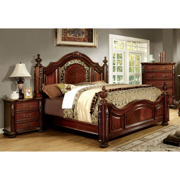 furniture of america ellianne traditional 3 piece brown