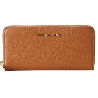 Michael Kors Bedford Luggage Brown Zip Around Continental Wallet