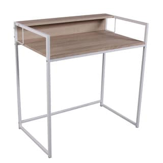 Fahd White Birch Panel Office Desk