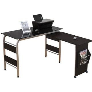 Garion Black Computer Desk