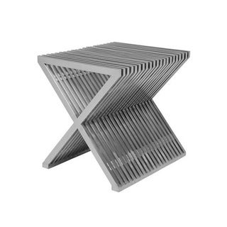 Mod Made Modern Stainless Steel X Shape End Table Stool