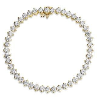SummerRose 18k Yellow Gold 9 1/3ct. TDW Diamond Tennis Bracelet