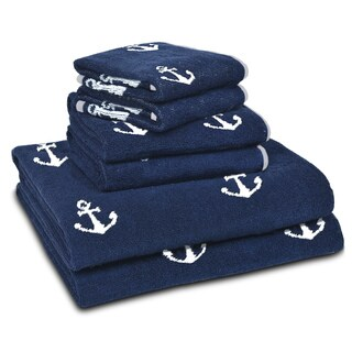 LaMont Home Anchors Bath Towel Collection in Navy