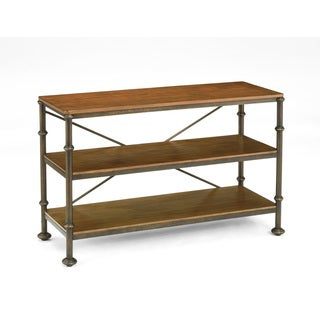 Bentley Oak and Metal Console Table