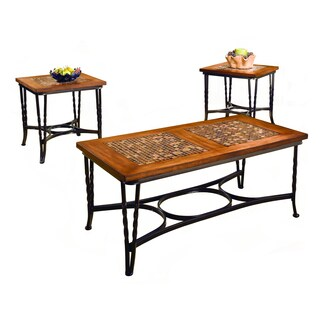 Mulberry Mosaic 3-piece Coffee Table Set