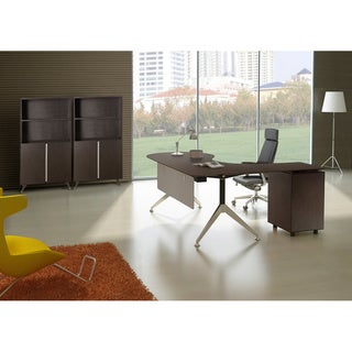 Executive Teardrop Desk With Filing Cabinet