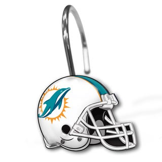 NFL 942 Dolphins Shower Curtain Rings