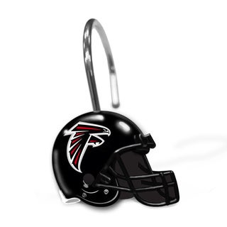 NFL 942 Falcons Shower Curtain Rings
