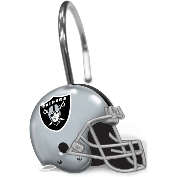 NFL 942 Raiders Shower Curtain Rings