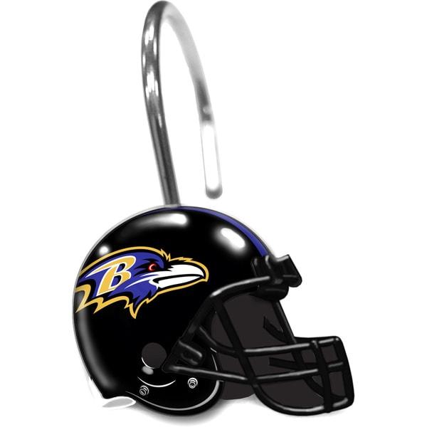 NFL 942 Ravens Shower Curtain Rings