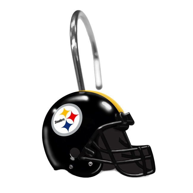 Norwesco NFL 942 Steelers Shower Curtain Rings, Multi (Me...