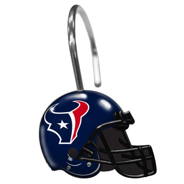 NFL 942 Texans Shower Curtain Rings