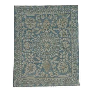 Washed Out Roman Mossaic Design Oriental Handmade Rug (8' x 10')