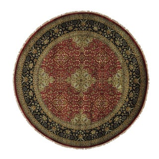 Round Sarouk Fereghan Handmade New Zealand Wool Rug (10' x 10')