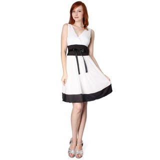 Evanese Women's Short Satin Trim Evening Dress|https://ak1.ostkcdn.com/images/products/10007010/P17155564.jpg?impolicy=medium