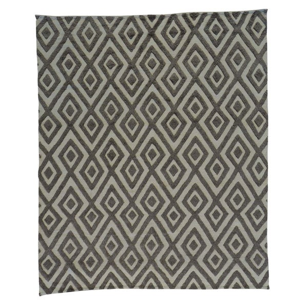 Oriental Geometric Design Moroccan Berber Handmade Rug (8'2 x 9'7) - 8'2 x 9'7