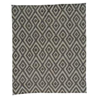 Oriental Geometric Design Moroccan Berber Handmade Rug (8'2 x 9'7)