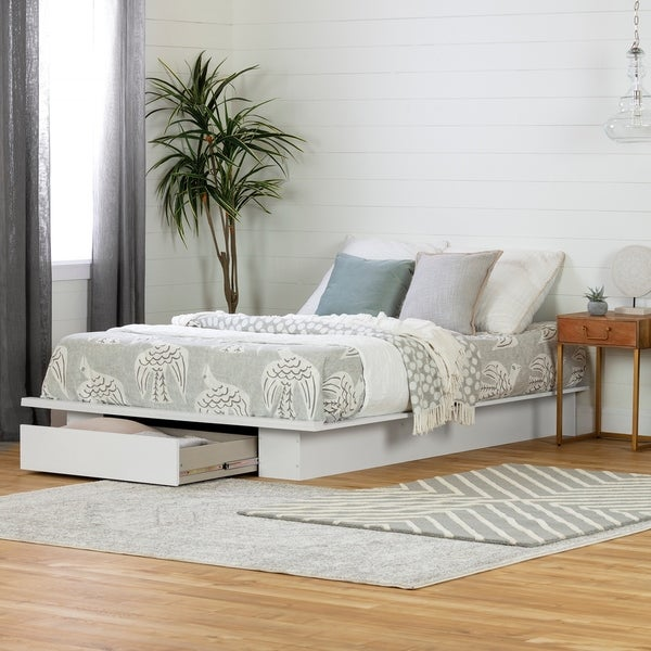 South Shore Holland Platform Bed with drawer Size - Queen