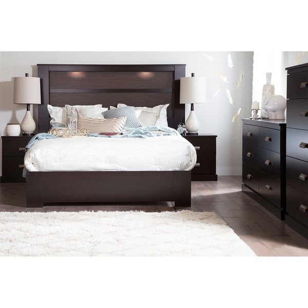 south shore gloria queen platform bed