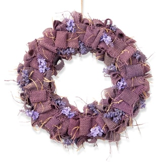 16-inch Easter Wreath with Lavender Burlap