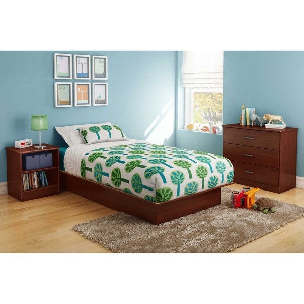 shop south shore libra platform bed free shipping today 10007120. Black Bedroom Furniture Sets. Home Design Ideas