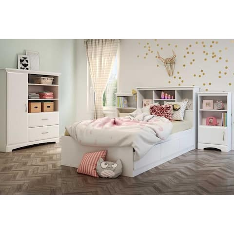 South Shore Vito Mates Bed with 3 Drawers