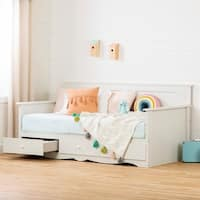 South Shore Furniture Summer Breeze Twin Daybed with Storage