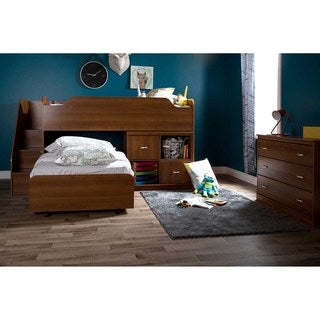 South Shore Mobby Twin Loft Bed with Chest and Storage Unit
