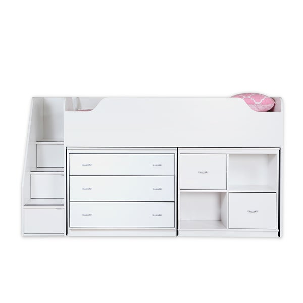 South Shore Mobby Twin Loft Bed With Chest And Storage
