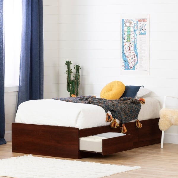 South Shore Summer Breeze Mates Bed with 3 Drawers Size - Twin