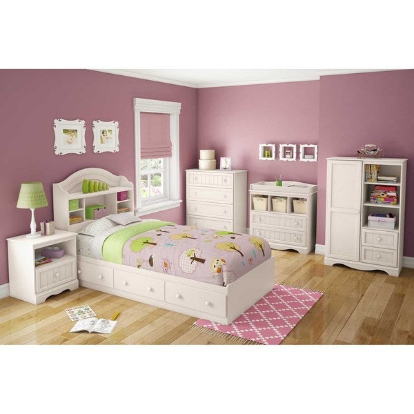 south shore savannah twin mates bed free shipping today 17155672. Black Bedroom Furniture Sets. Home Design Ideas