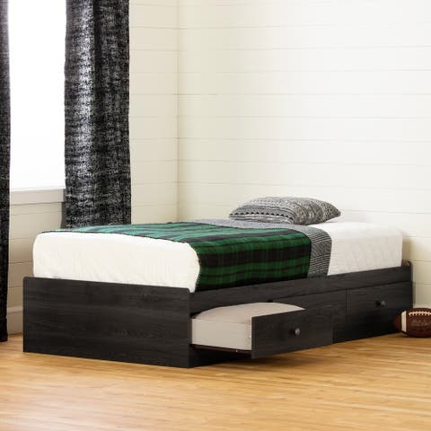 South Shore Zach Mates Bed with 3 Drawers
