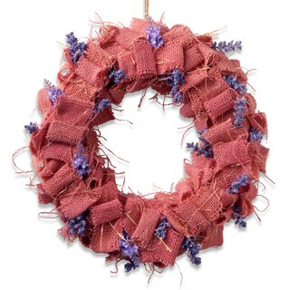 """16"""" Easter Wreath with Pink Burlap"""