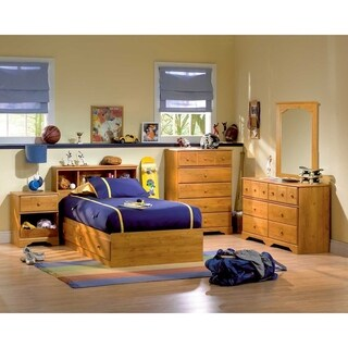 South Shore Little Treasures Mates Bed with 3 Drawers Size - Twin