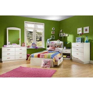 South Shore Logik Mates Bed with 2 Drawers Size - Twin